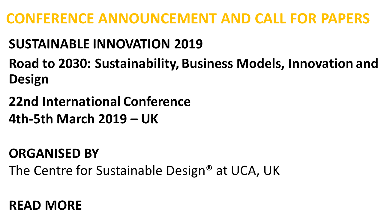 sustainable innovation 2019 the centre for sustainable design